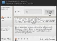 Link to3 elegant widgets in psd