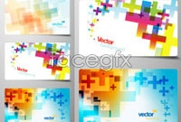 Link to3 fancy business card background vector