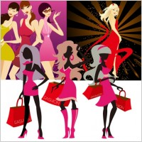 Link to3 fashion women vector