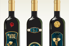 Link to3 fine wine bottle vector