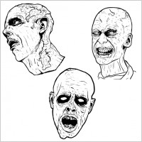 Link to3 free illustrated scary zombie vector graphics