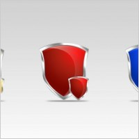 Link to3 free shield psd icons