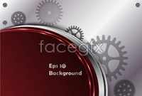 Link to3 gears background vector