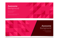 Link to3 geometric banner vector