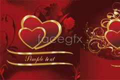 Link tovector pattern heart-shaped golden gorgeous 3