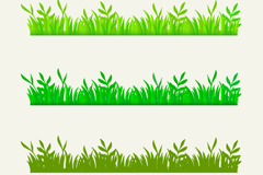 3 green grass design vector