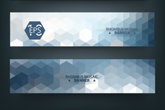 Link to3 hexagon mosaic banner vector