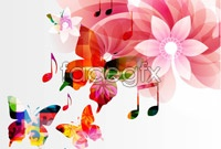 Link to3 magic butterfly music background vector