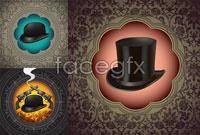 3 magic the gentleman hat vector