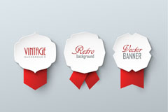 Link to3 medal for a paper-cut banner vector