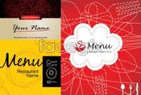 Link to3 menu cover design vector