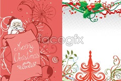 Link to3 merry christmas vector illustration