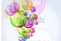 Link to3 multicolor bubble background vector map