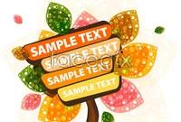 Link to3 nursery tree cartoon billboards vector map