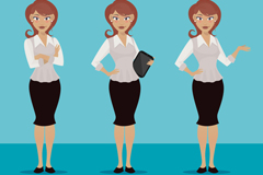 Link to3 office ladies vector