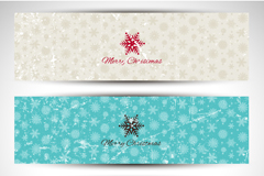 Link to3 old effect snowflake banner vector diagrams