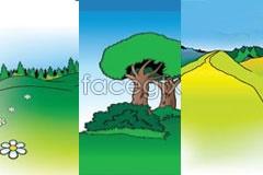 Link tovector cartoon scenery outdoor 3