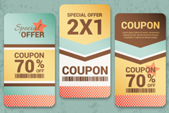 Link to3 paper discount coupons vector