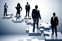 Link tovector silhouettes people business practical 3