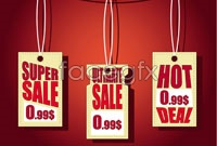 Link to3 price tag label vector