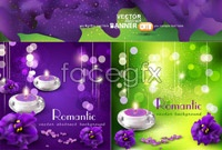Link to3 purple fantasy aromatherapy vector