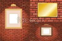 Link to3 red brick wall background photo frame vector map