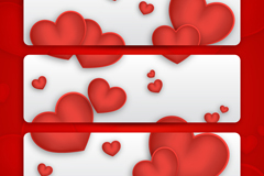 Link to3 red love banner vector
