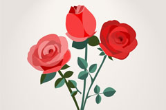Link to3 rose background vector