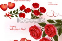 Link to3 roses for valentine's day vector map
