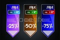 Link to3 sale tag vector