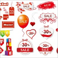 Link to3 sets of discount sales decorative icon vector