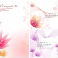 Link to3 small flower background vector dream