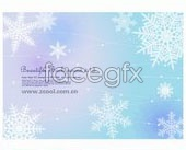 Link to3 snow fluttering background vector