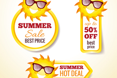 Link to3 summer discount tag vector