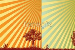 Link to3 the radiation background trees colored silhouettes vector