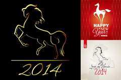 Link to3 the year new year poster vector