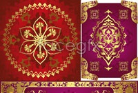 Link to3 traditional gold pattern vector