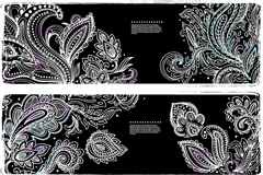 Link to3 types of exquisite white pattern banner vector