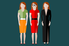 Link to3 woman fashion design vector