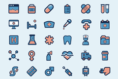 Link to30 medical element icon vector