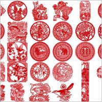 Link to30 of the classical papercut pattern vector