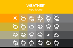 Link to30 simple weather icon vector
