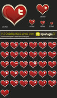 Link to30 valentine icons - psd