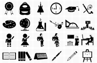 Link to31 free vector photoshop school icons psd