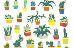 Link to31 potted cactus design vector