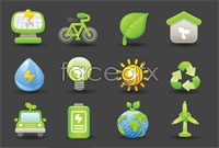 Link to32 green icon vector