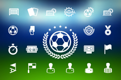 Link to33 white football element icon vector