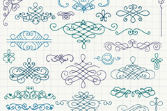 Link to34 hand-painted pattern design vector graph