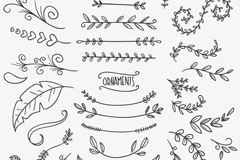 Link to35 flowers and branches to design vector