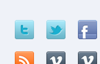 35 sweet social icons psd